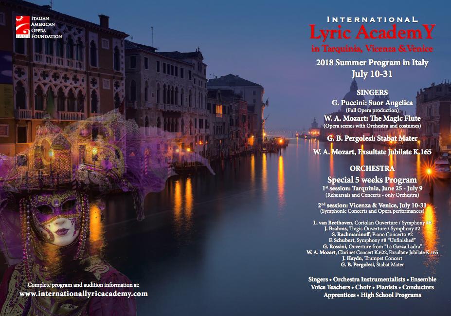 ILA 2018 Tarquinia - Vicenza - Venice